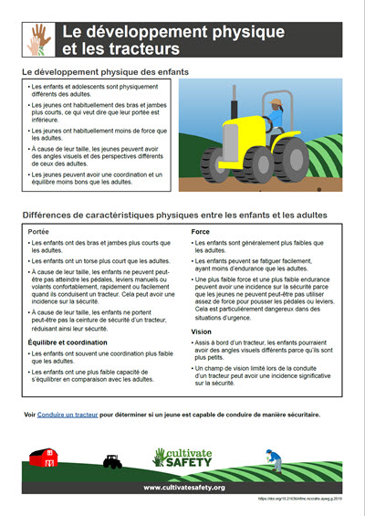 Click here to open the Physical Development and Tractors PDF in French.