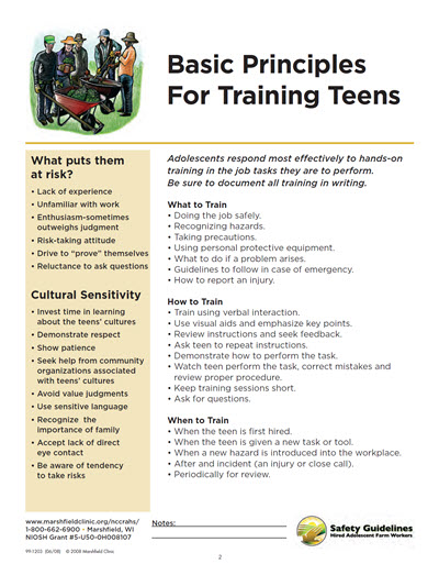Click here to open Basic Principles for Training Teens PDF in English.