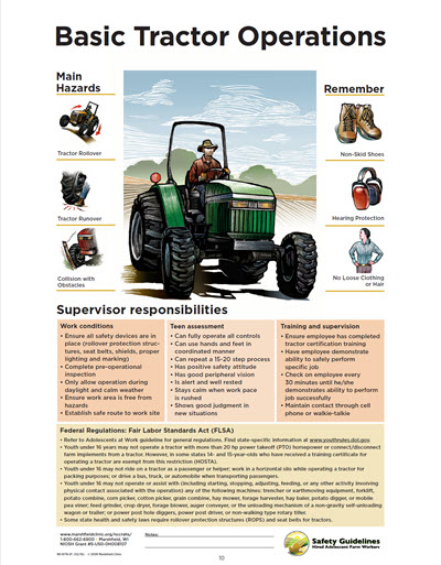 Click here to open Basic Tractor Operations PDF in English.