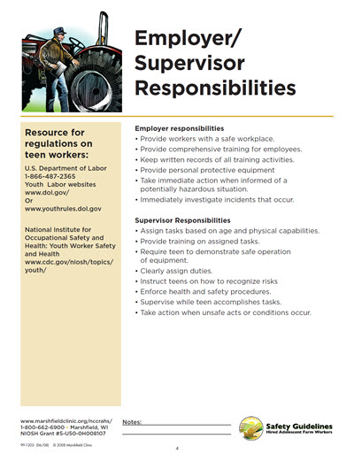 Click here to open Employer and Supervisor Responsibilities PDF in English.