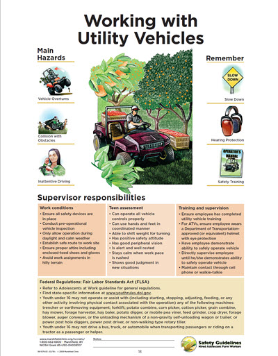 Click here to open Working with All Terrain and Utility Vehicles PDF in English.