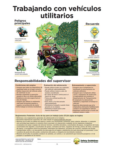Click here to open Working with All Terrain and Utility Vehicles PDF in Spanish.